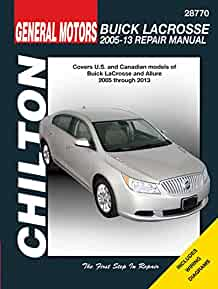buick lacrosse 2005 13 repair manual covers u s and canadian rh amazon com 2010 buick lacrosse service manual 2010 buick lacrosse service manual