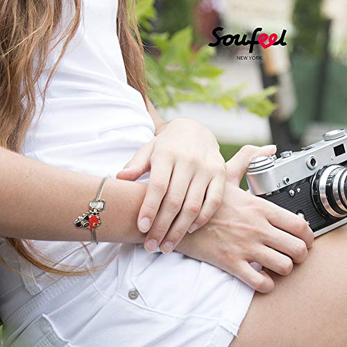 SOUFEEL Love Coffee Charms 925 Sterling Silver Charm for European Bracelets Friend Gift by SOUFEEL (Image #3)