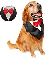 DogLemi Dog Costumes Dogs Bowtie Tuxedo Party Neckwear Holloween Scarf Pet Dress-up Clothes Cosplay Accessories Red