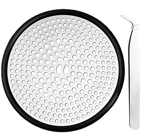 LinKqin Shower Drain Hair Trap Hair Catcher Shower Drain Cover Stainless Steel 4.3 Inches
