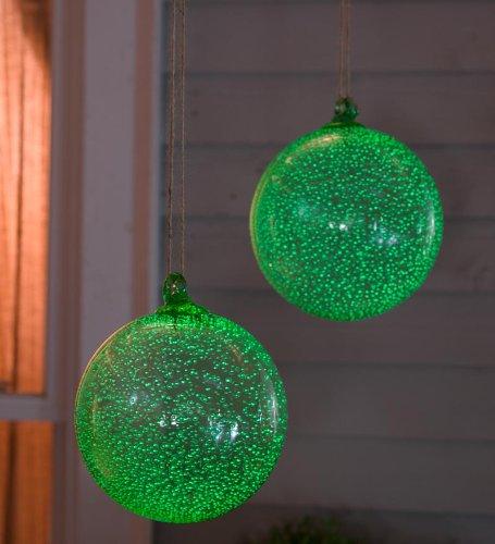 Glowing Ball Glass Garden Ornament (Glowing Glass Ball)