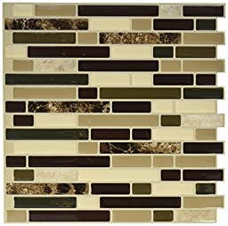 QUINCO SM1034-6 Tile Wall Keystone with Pink Tones