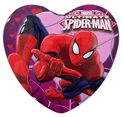 Ultimate Spiderman Heart Tin with Lollipops