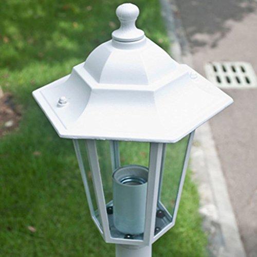 Lanterne Bianche Da Esterno.Vidaxl 6x Lampione Da Giardino Bianco Illuminazione Lanterna Lampada