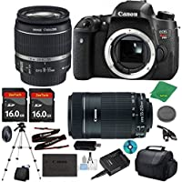 Canon EOS Rebel T6s Camera with 18-55mm IS STM Lens + 55-250mm STM + 2pcs 16GB Memory Card + Camera Case + Card Reader + Tripod + 6pc Starter Set - International Version