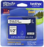 : Brother 26.2-Foot Black on White 1/2-Inch Labeling Tape (TZ231)