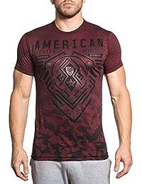 Men's Brimley Tee Shirt Red/Black