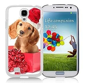 Special Custom Made Samsung S4 TPU Protective Skin Cover Christmas Dog White Samsung Galaxy S4 i9500 Case 4