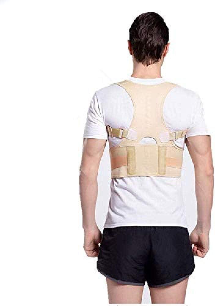 SanQ-Seven Apoyo de Postura Posterior, órtesis de Espalda Órtesis de Espalda Postura de Estudiante Anti-Joroba Espalda Hombres y Mujeres Espalda Espina Dorsal @ V_S