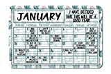 Cactus Plant Decorative Wall Calendar Planning Board - Reusable Easy Clean