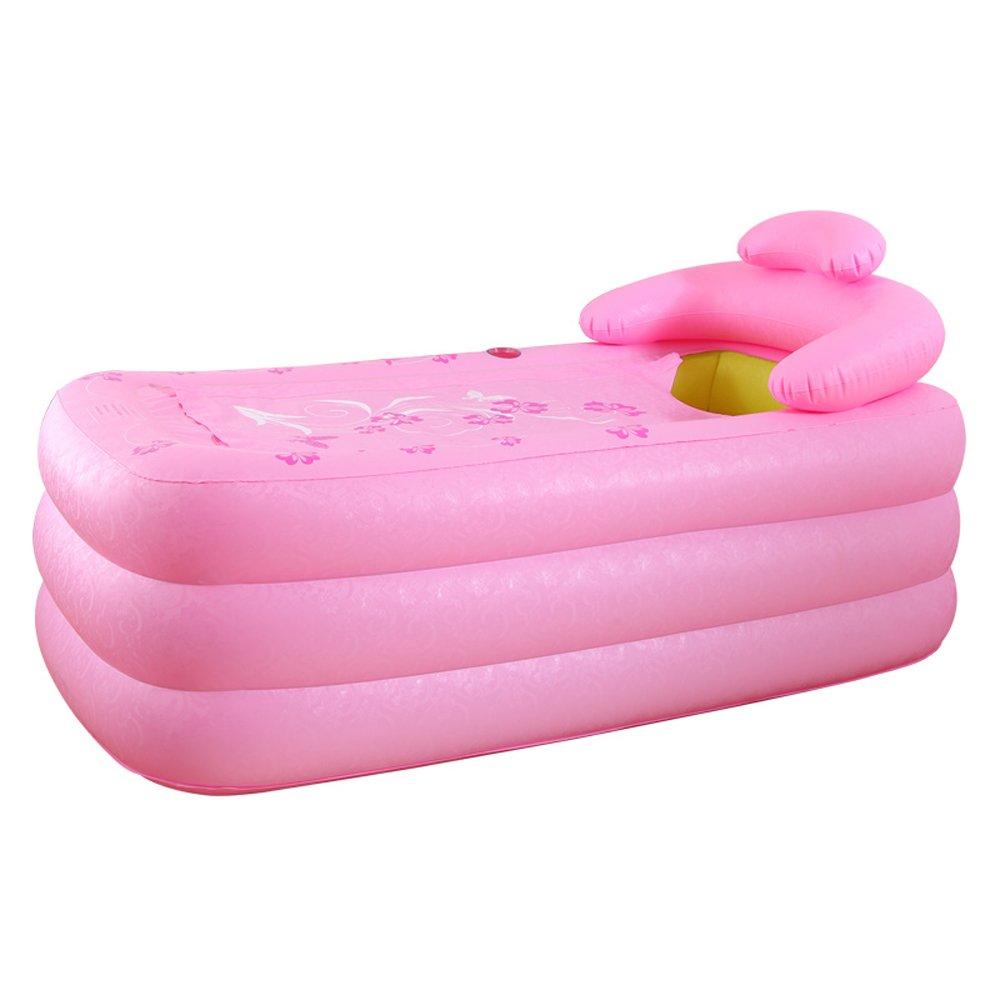 Pink Neilyn Double Inflatable Bathtub Thickening Household Couple Bath Barrel Adult Folding Tub Large Tub Plastic Can Sit or Lie Sauna Bath Dual-use Folding Bath Tub Thicken Medicated Tub ( color   Green )