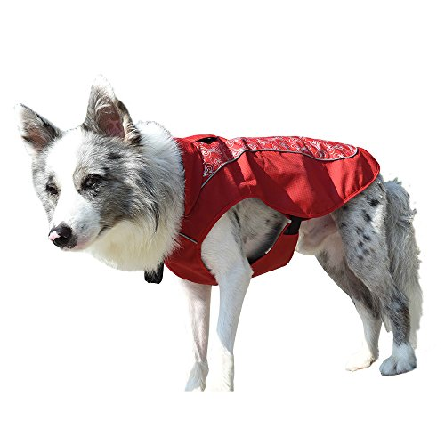 MY PET Clothes for Small Medium Dogs Large Breed Pitbull Waterproof And Warm Coat Jacket Outdoor Safety Raincoats with Reflective Article Plaid Winter Autumn Soft (Names Of Monster High Characters)