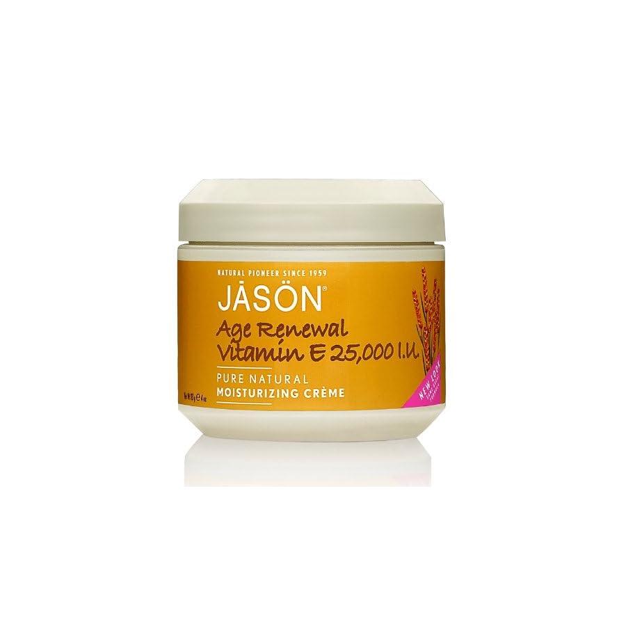 Jason 25,000 I.U. Vitamin E Age Renewal Moisturizing Creme, 4 Ounce Jar