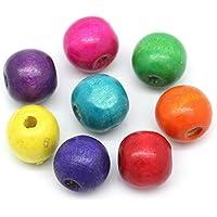 200 pcs Ronda de cuentas de madera, coloures