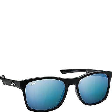 458d2787aa Hobie Eyewear Sandcut Sunglasses (Sand Cut Satin Black Frame Grey Cobalt  Mirror