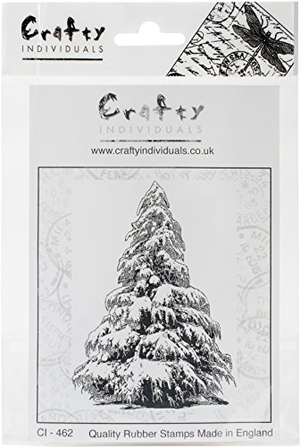 Crafty Individuals Large Christmas Tree Unmounted Rubber Stamp, 2.75'' x 3.75'' by Crafty Individuals