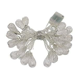 penfly 2,5m 20LED decorativa carcasa hada luz de noche metal Árbol de Navidad para dormitorio boda Festival