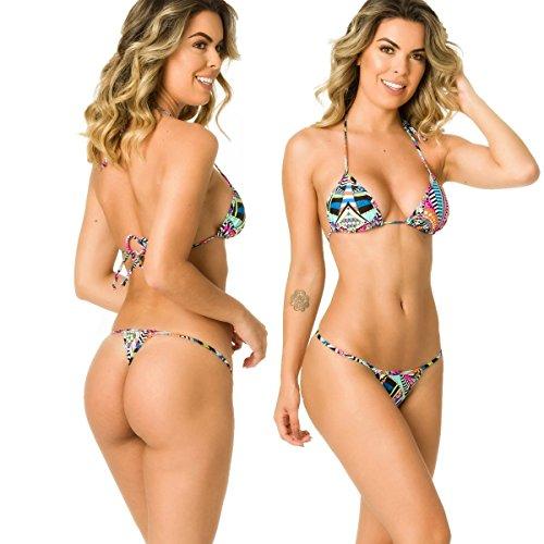 Coqueta Swimwear Womens Sexy G-String Teeny Mini Brazilian Thong Swimsuits-Sailor