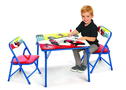 The Incredibles 2 New Disney's Activity Table Set with Two Chairs, the Incredibles 2 ()