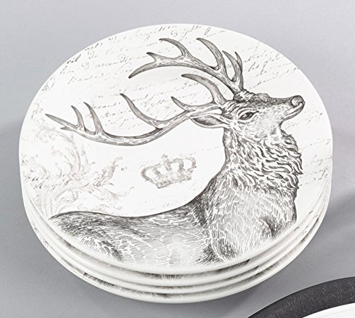 Fennco Styles Christmas Deer Plate Holiday Decorative 8