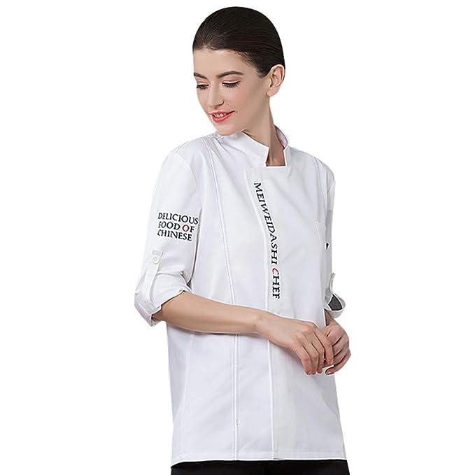 Dooxii Unisex Donna Uomo Autunno Manica Lunga Giacca da Chef Professionale  Ristorante Occidentale Mensa Hotel Uniformi Divise da Cuoco  Amazon.it  ... cfd3e468edb3