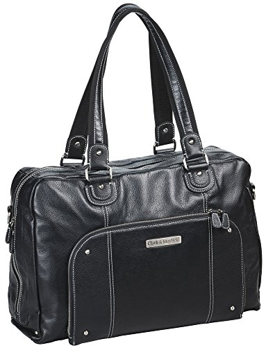 Clark & Mayfield Morrison Leather Laptop Handbag 18.4'' (Black) by Clark & Mayfield