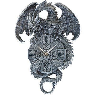 Design Toscano The Celtic Timekeeper Sculptural Dragon ...