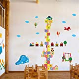 YUMULINN wallpaper stickers Wallpapers murals Super large removable building blocks wall stickers bedroom room kindergarten cartoon room children height stickers living room stickers, 60X90CM