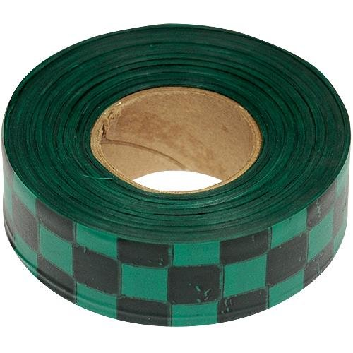 - Flagging Tape, 1-3/16 Inches Wide x 300 Foot Roll (Green and Black Checkerboard)
