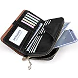 Jack&Chris Leather Checkbook Wallets for Women Multi Card Slot with Gift Box, WBXH053