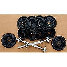 "14"" Adjustable Solid Chrome Steel Regular Dumbbells Barbell Handles Pair Set Pro Style Fitness Gear, Ergonomic Steel Handle, Threaded Steel Collar, Comfortable Grip"