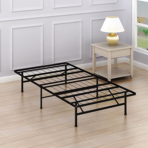 Simple Houseware 14-Inch Twin Size Mattress Foundation Platform Bed Frame, Twin by Simple Houseware