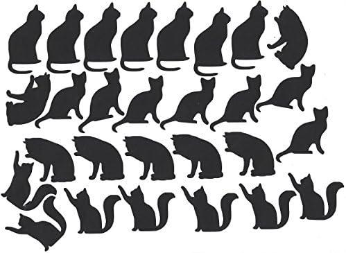 24 per sheet BLACK 3cm A5 Sheet PAW PRINTS Dog Cat