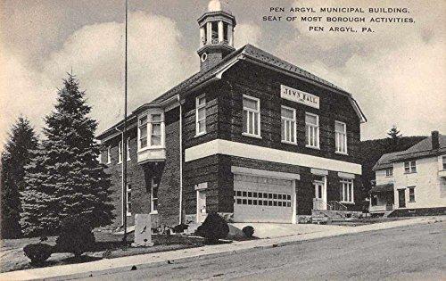 Pen Argyl Pennsylvania Municipal Building Town Hall Antique Postcard ()