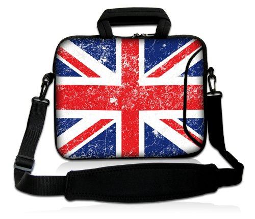 Pedea Design Schutzhülle Notebook Tasche 17,3 Zoll (43,9cm) mit Schultergurt Union Jack