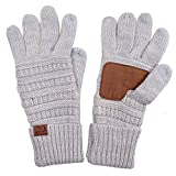 ScarvesMe CC Two Tone Soft and Warm Knit Gloves (30)