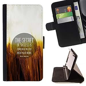 Momo Phone Case / Flip Funda de Cuero Case Cover - Secreto Cita Motivación ?xito Amor Vida Laboral - Sony Xperia Z2 D6502