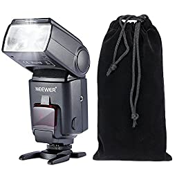 Neewer NW680/TT680 HSS Speedlite Flash E-TTL Camera Flash for Canon 5D MARK 2 6D 7D 70D 60D 50DT3I T2I and other Canon DSLR Cameras