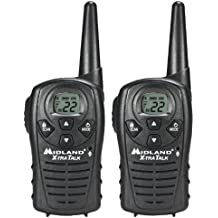 Midland LXT118 22-Channel GMRS with 18-Mile Range, E Vox, and Channel Scan (Pair)