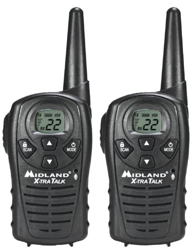 Midland LXT118 22-Channel GMRS with 18-Mile Range, E Vox, and Channel Scan (Pair) (Scanner Frs Gmrs)
