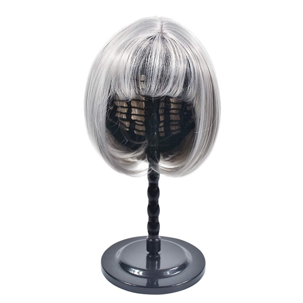 ZiQe Plástico DIY Peluca Soporte Portátil Estable Soporte Plegable para Peluca/Tupé / Sombrero Exhibidor Peluca Titular de Soporte 2018 (negro)