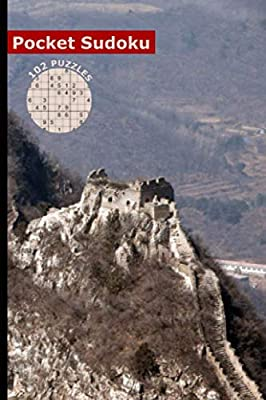 """Sudoku Pocket Size Travel Book: 102 Easy to Hard Puzzles with Numbers or Letters on 4x4, 6x6 and 9x9 Grids, Cover - Jiankou Great Wall, China (Mini Activity Games 4x6"""" Vol 3)"""