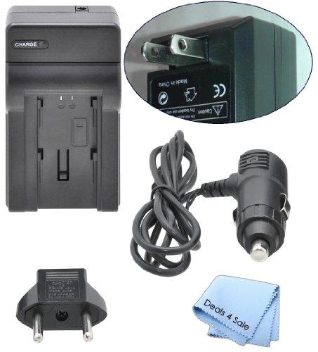 eForCity Compact Battery Charger Set Compatible with Fuji NP-60 / Nikon EN-EL2 / Kodak KLIC-5000 / Panasonic CGA-S004A/1B