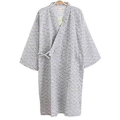 Summer & Autumn Japan Thin Hotel Spa Robe Cotton Bathrobe Sleepwear (41.73'') , c