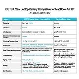 ICETEK Replacement Battery for MacBook Air 13