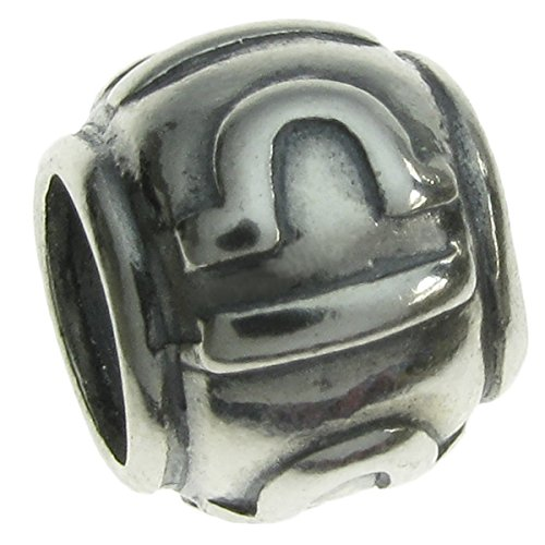 Queenberry Sterling Silver Zodiac Libra European Style Bead Charm