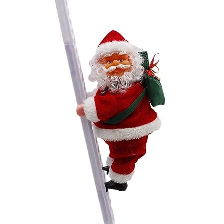 Addobbi Natale.Bestoyard Babbo Natale Scala Elettrico Decorazioni Addobbi Natale Regali Di Natale