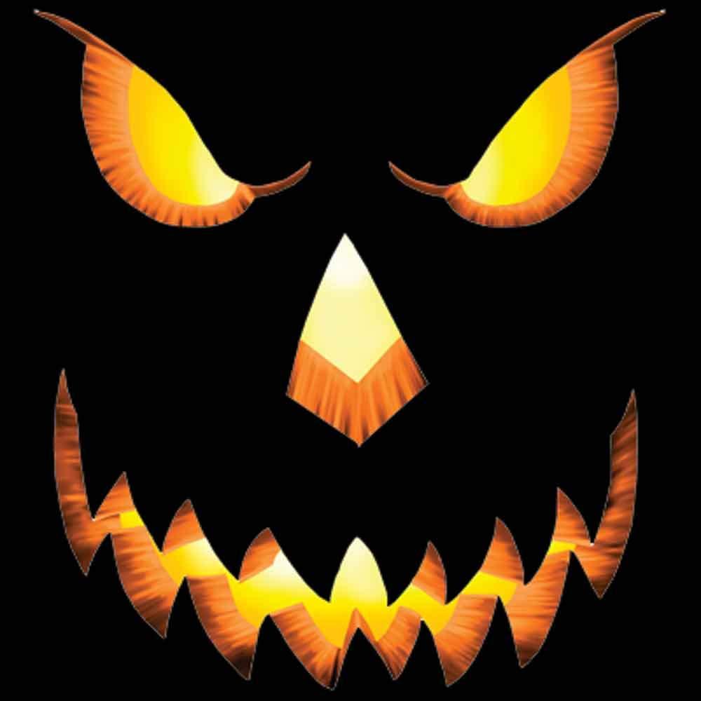 Halloween Pumpkin Face Printed T-Shirt