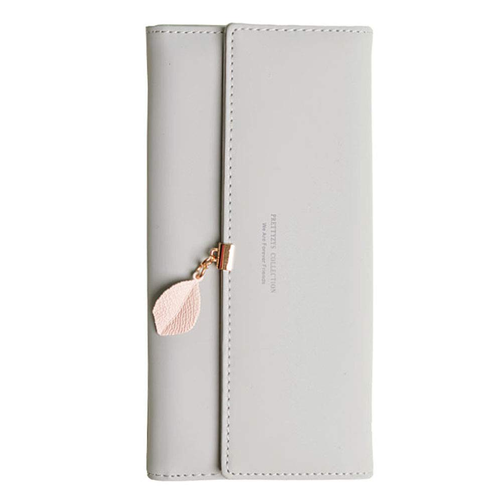 Portafoglio Foglie dautunno di Pelle sintetica per donna portafoglio lungo con foglia pendente e portamonete con cerniera