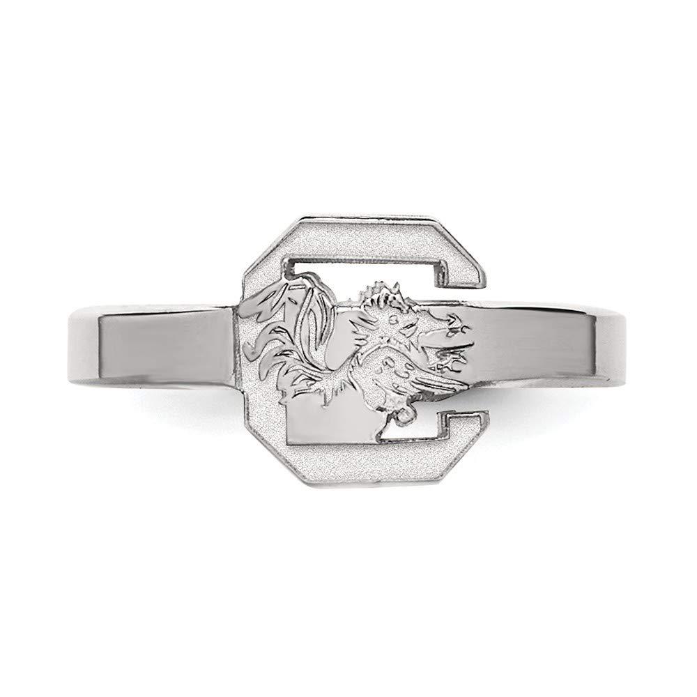 Roy Rose Jewelry Sterling Silver LogoArt University of South Carolina Toe Ring